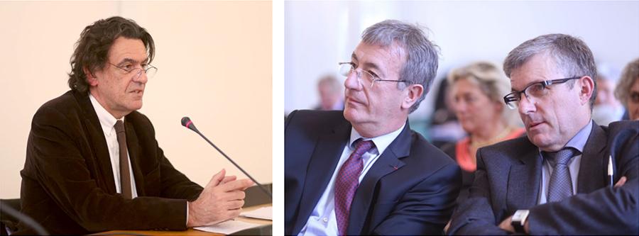 Luc Ferry, Philippe Boutin et Jean-Pierre Binon. Séminaire ISPL 2015.